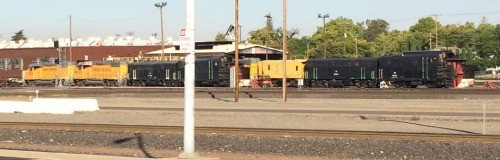 For railfans trains in Roseville California are a great treat 500