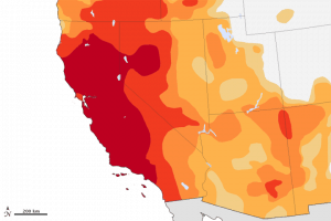 NASA illustration of the impact of the drought on California December 2014 via Roseville CA real estate agent Kaye Swain