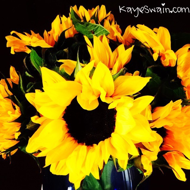 My senior mom loved her sunflowers for Mothers Day from Berryfest 2015 in Roseville CA via Keller Williams REALTOR Kaye Swain