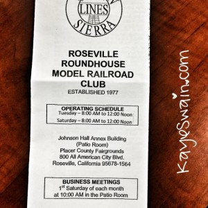 The Roseville Roundhouse Model Railroad Club is based at the Placer County Fairgrounds in Roseville CA via REALTOR Kaye Swain