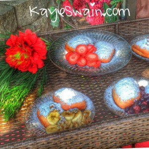 Yummy food and fried strawberries were some of the foods at Berryfest2015 in Roseville CA via REALTOR Kaye Swain