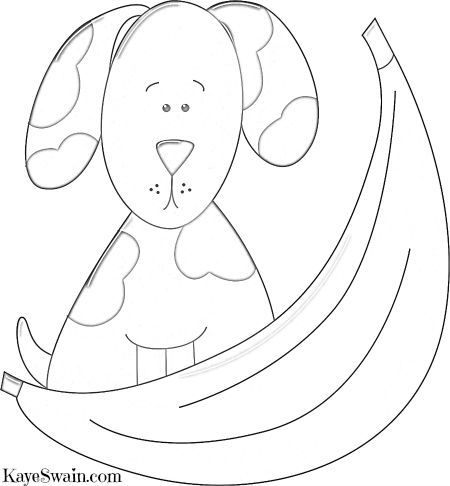 Another Of My Doggy Coloring Pages Hiding Behind Banana Via Sacramento And Placer County REALTOR Kaye