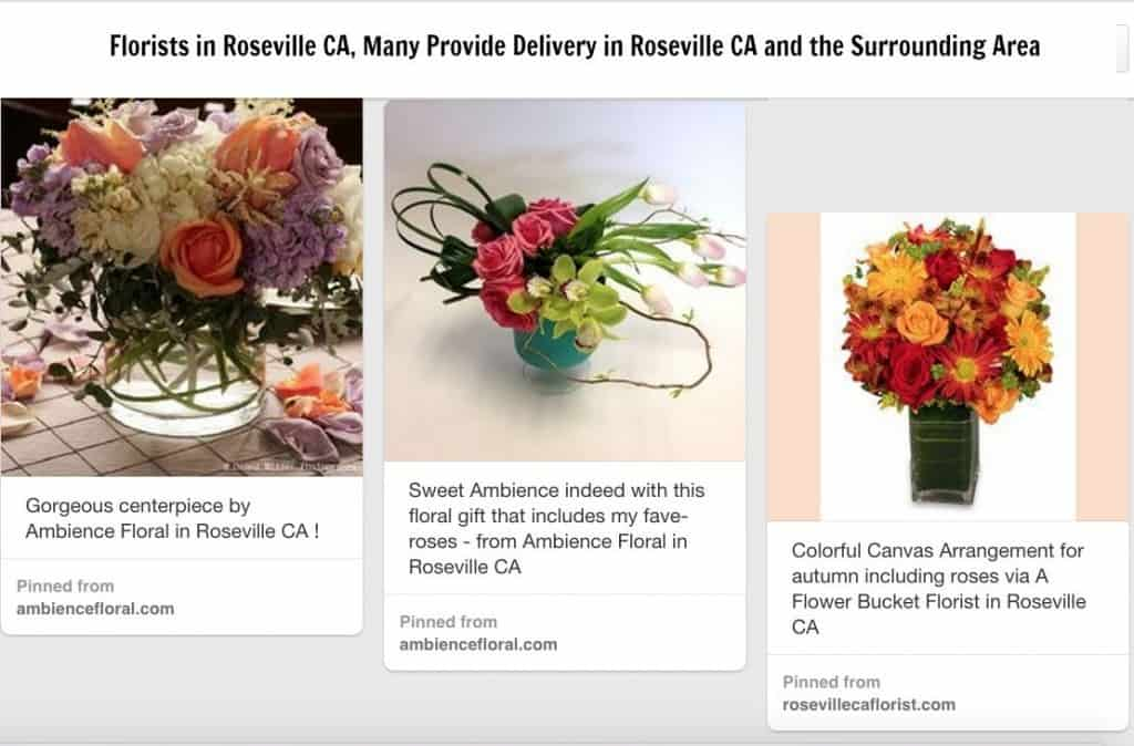 Some of the Roseville CA florists including some with flower delivery at Kaye Swain REALTOR Pinterest
