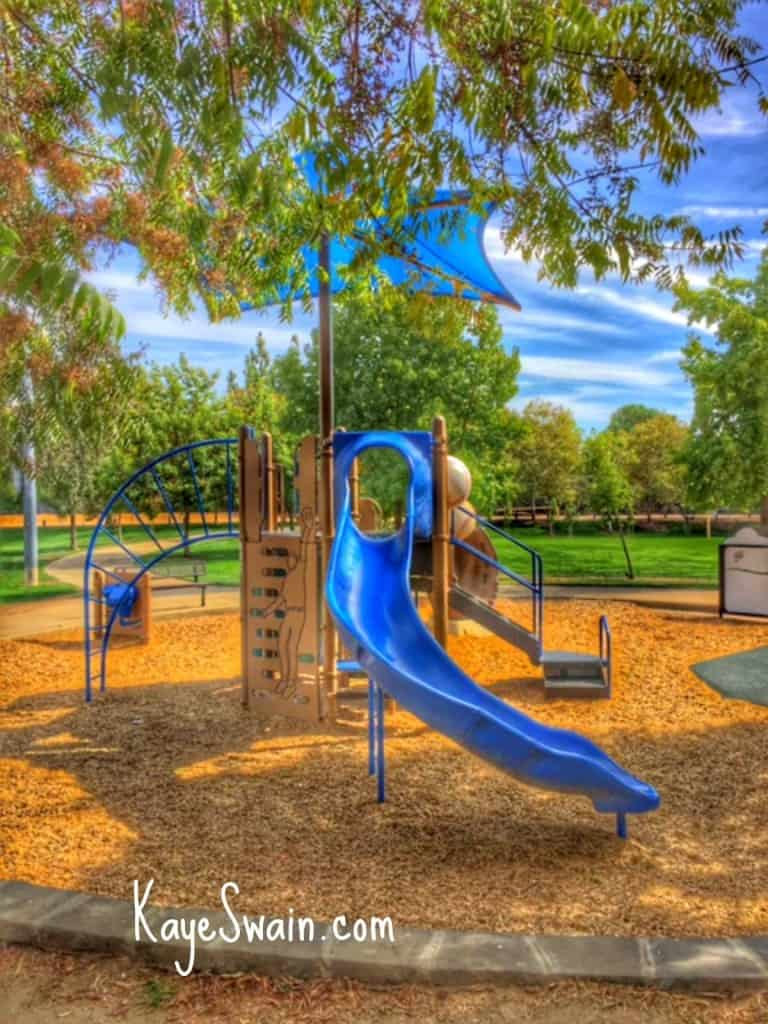 Cool playground between Maidu park softball fields via Christian blogger Kaye Swain Roseville CA REALTOR