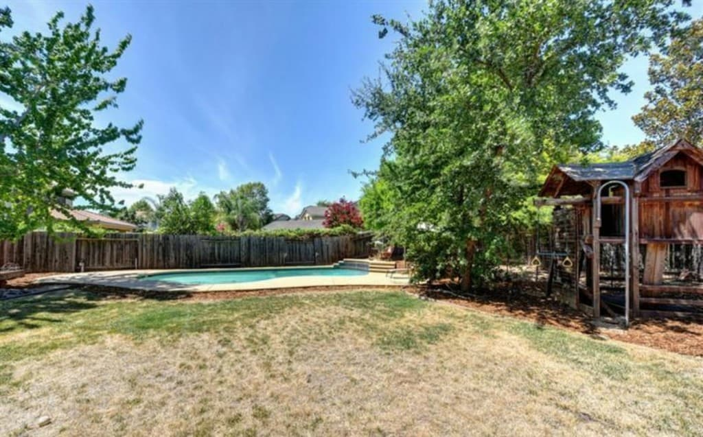 Kaye Swain Real Estate Agent blogger sharing about 1816 Cymbeline Street West Roseville CA 95747 pool and playhouse 1200