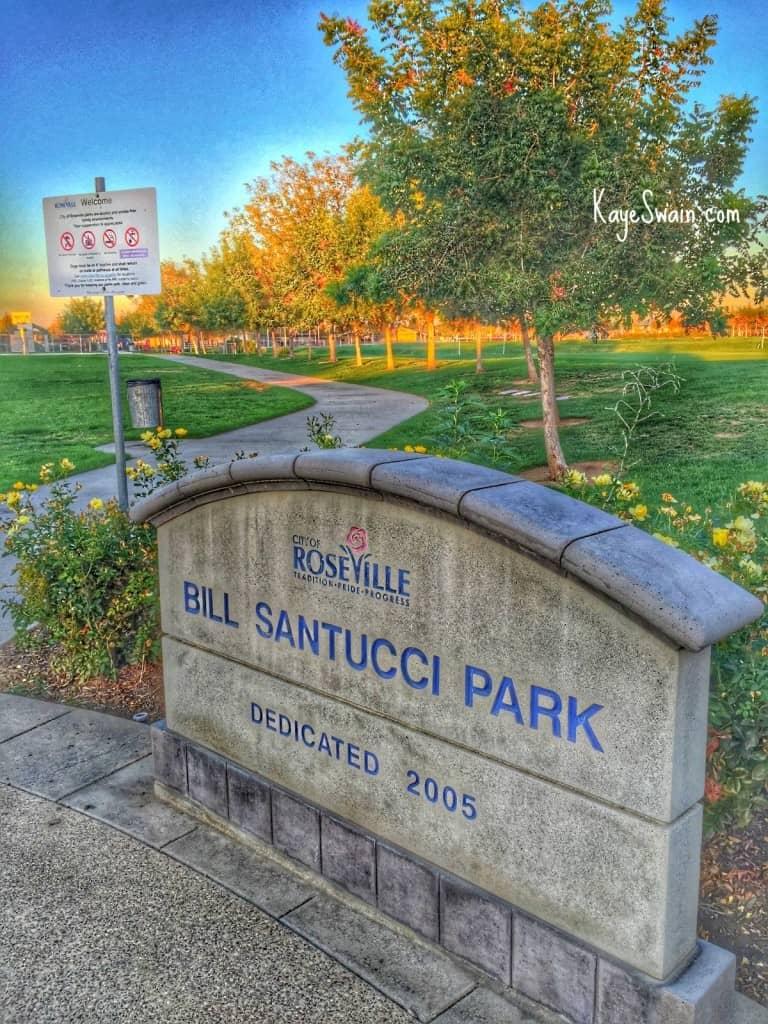 Kaye Swain Roseville CA REALTOR blogger shares Bill Santucci Park