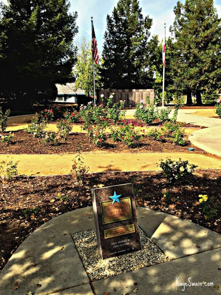 Kaye Swain real estate agent blogger in Roseville CA sharing the Memorial Garden at Maidu Regional Park