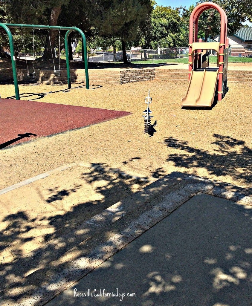 Many Roseville CA parks have play equipment for big AND for little kids grandkids via real estate agent blog Kaye Swain 1200