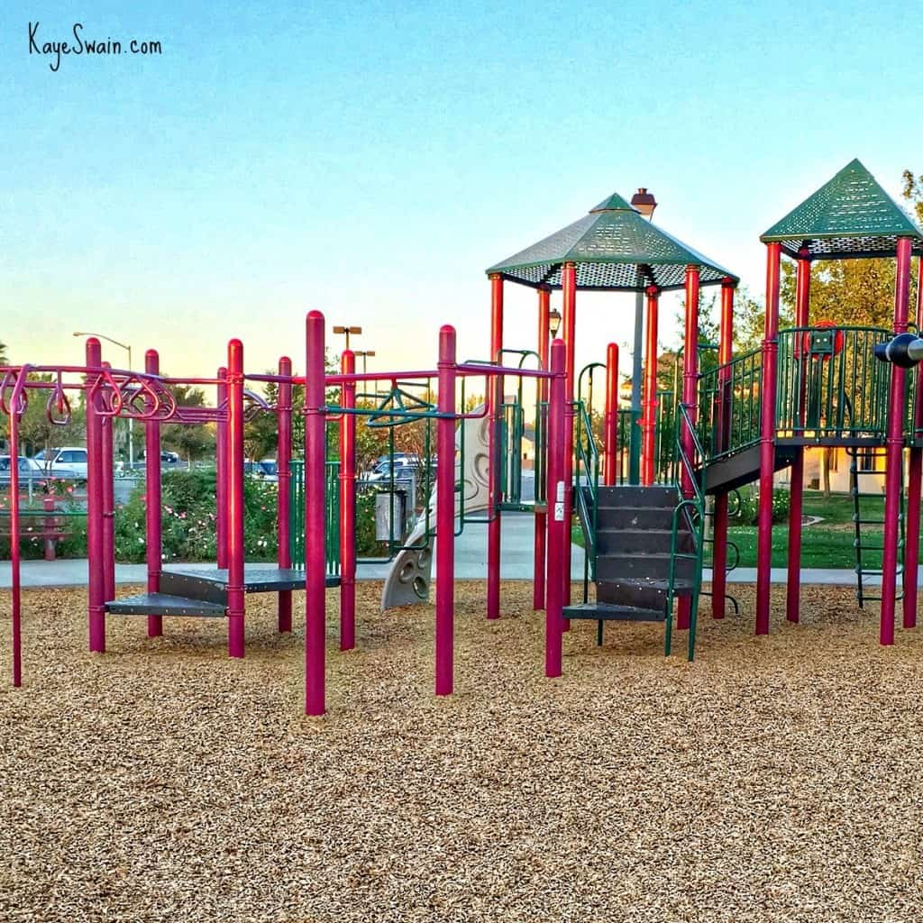 Part of the cool play structure at Santucci Park Roseville CA via Kaye Swain Real Estate Agent blog
