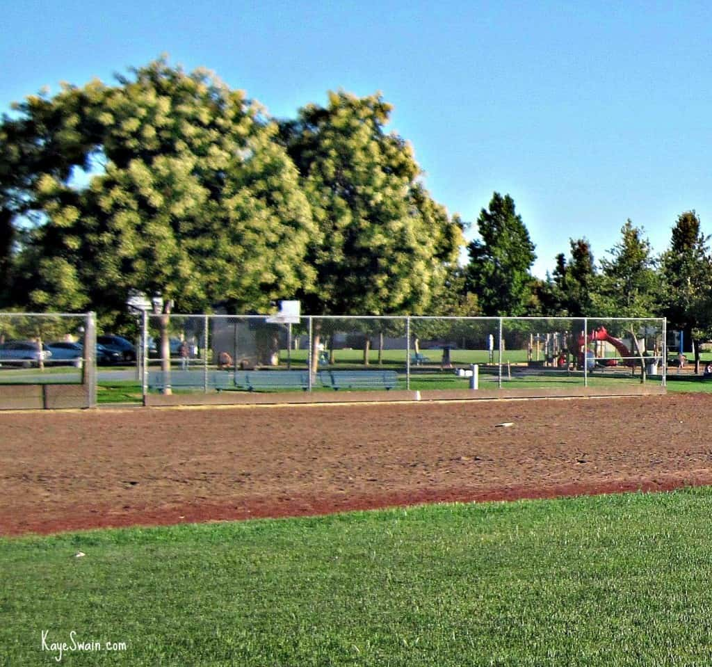 Playing field at Elliott Park in Roseville CA via Sacramento real estate agent blogger Kaye Swain