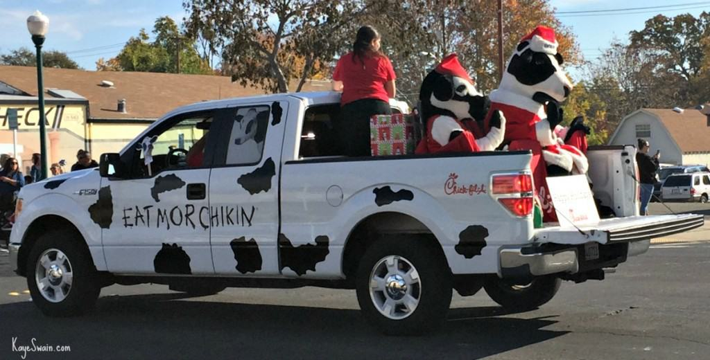 Roseville CA Christmas parade via Kaye Swain real estate agent Chick Fil A 1200