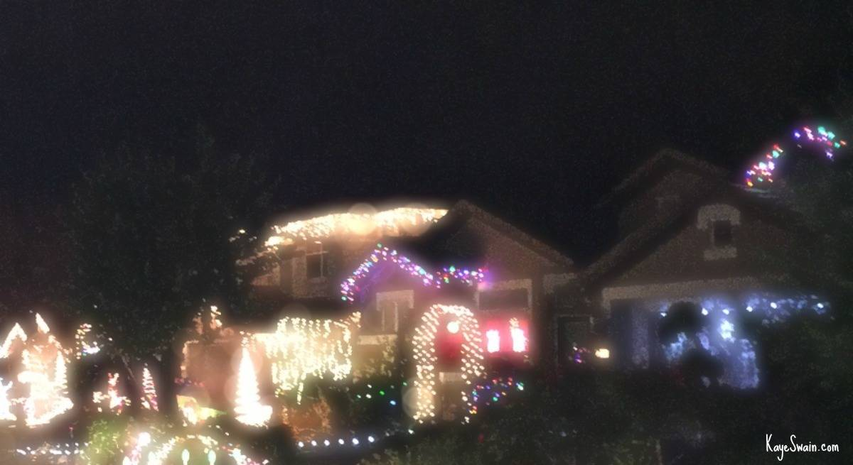 Kaye Swain Roseville CA real estate agent for first time home buyers on up to boomers and seniors with Christmas lights