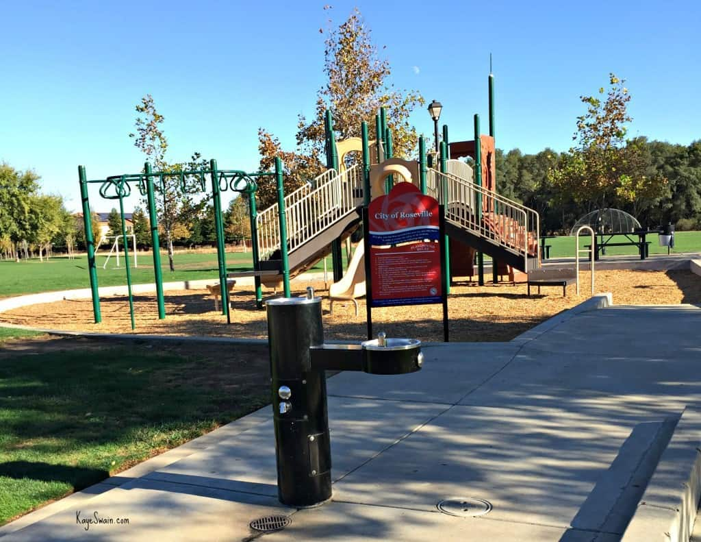 Kaye Swain blogger REALTOR sharing Roseville CA Veterans Memorial Park Parks playground