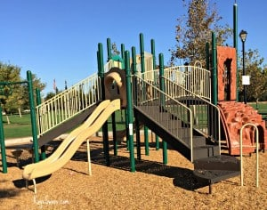 Kaye Swain blogger REALTOR sharing Roseville CA Veterans Memorial Park Parks playground with climber