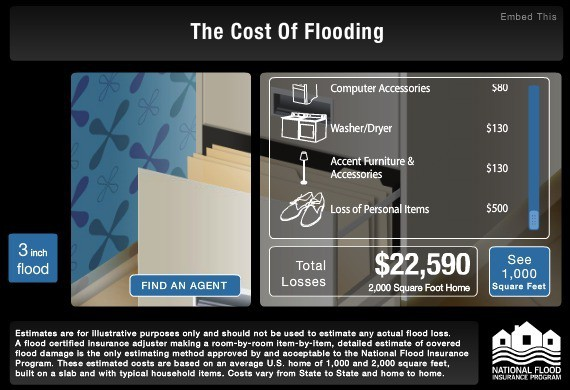 Roseville Sacramento REALTOR Kaye Swain shares The Cost of Flooding Calculator