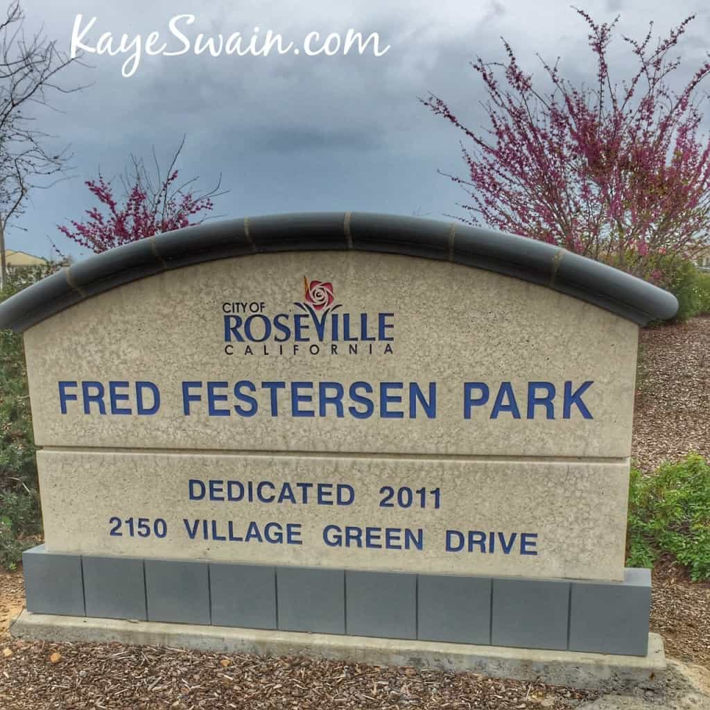 Fred Festersen Park 2150 Village Green Drive West Roseville CA 95747 via Kaye Swain real estate agent blogger