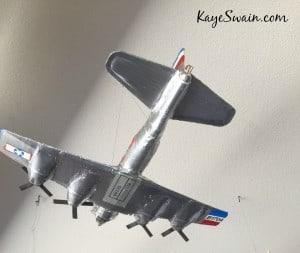 Kaye Swain REALTOR West Roseville 95747 sharing green model planes grandkids love