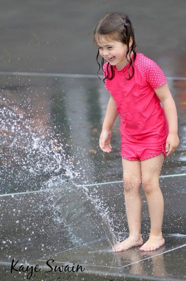 Spray Park Fun in Downtown Roseville Square