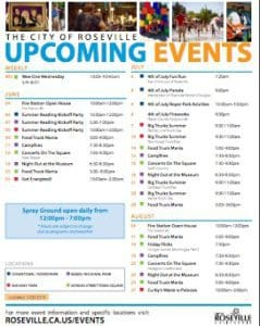 Roseville Upcoming Events Poster