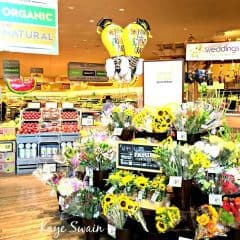 Roseville real estate agent Kaye Swain shares Safeway Woodcreek Oaks organic vegetables