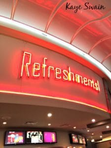 Kaye Swain Roseville real estate agent shares Blue Oaks Century Theaters and xd refreshments counter