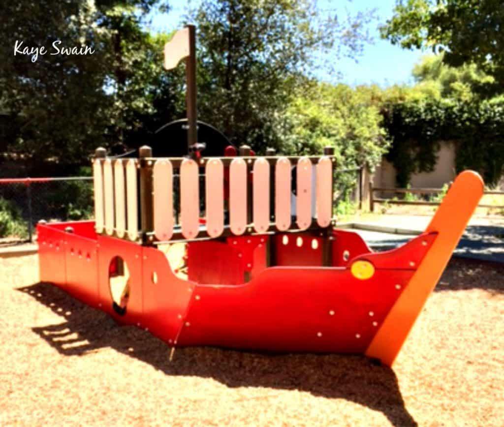 Kaye Swain Roseville Real Estate Agent shares Misty Wood Park Sailing Ship Roseville Parks