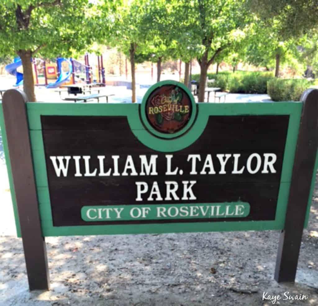 Kaye Swain Roseville Real Estate Agent shares Taylor Park Roseville Parks