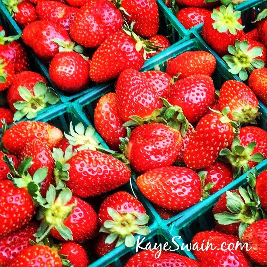 Kaye Swain Roseville Real Estate Agent loves fresh farm strawberries
