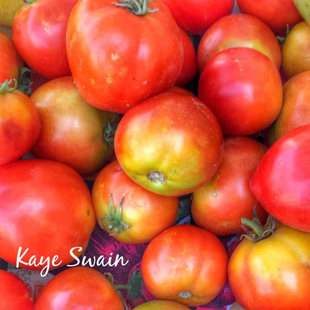 Farmers Market Tomatoes Kaye Swain Roseville Real Estate Agent