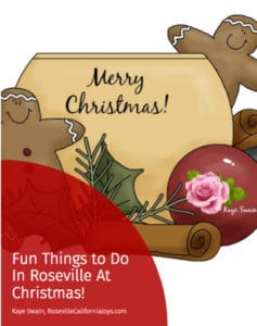 Get my free ebook of Fun Things to Do in Roseville along with useful fun and holiday updates