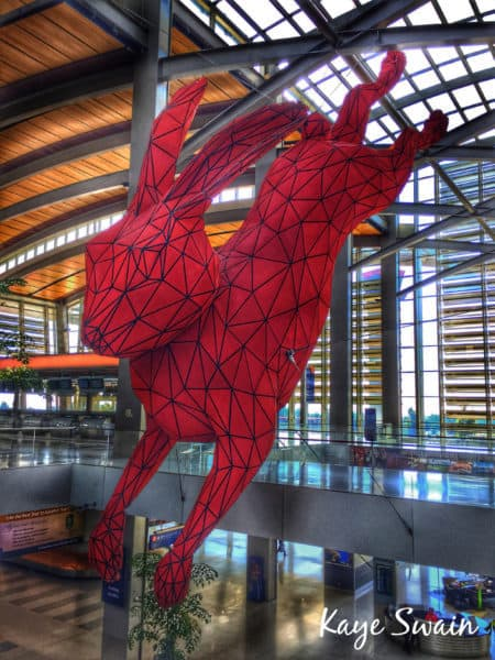 Kaye Swain Roseville Real Estate Agent shares Sacramento International Airport Spiderman Bunny