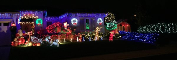 Driving Christmas lights in Roseville via Kaye Swain Roseville REALTOR