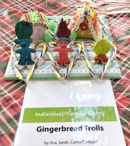 Gingerbread trolls gingerbread house contest Eva Sarah Carlos Cubajal via Kaye Swain Roseville Real Estate Agent
