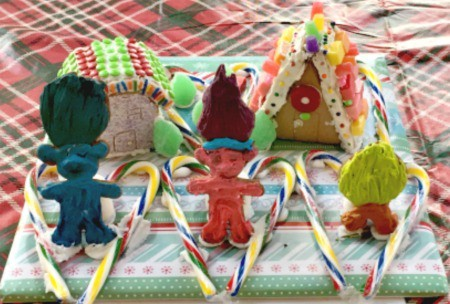 Gingerbread trolls gingerbread contest 2016 Roseville Downtown Holiday Celebration via Kaye Swain