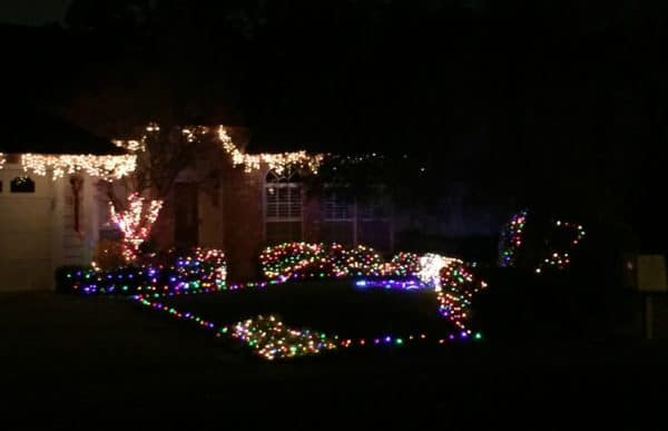 Kaye Swain Roseville REALTOR sharing 2016 Christmas lights display in Roseville CA Ranch Drive