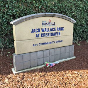 Kaye Swain Roseville Real Estate Agent shares Jack Wallace Park At Cresthaven