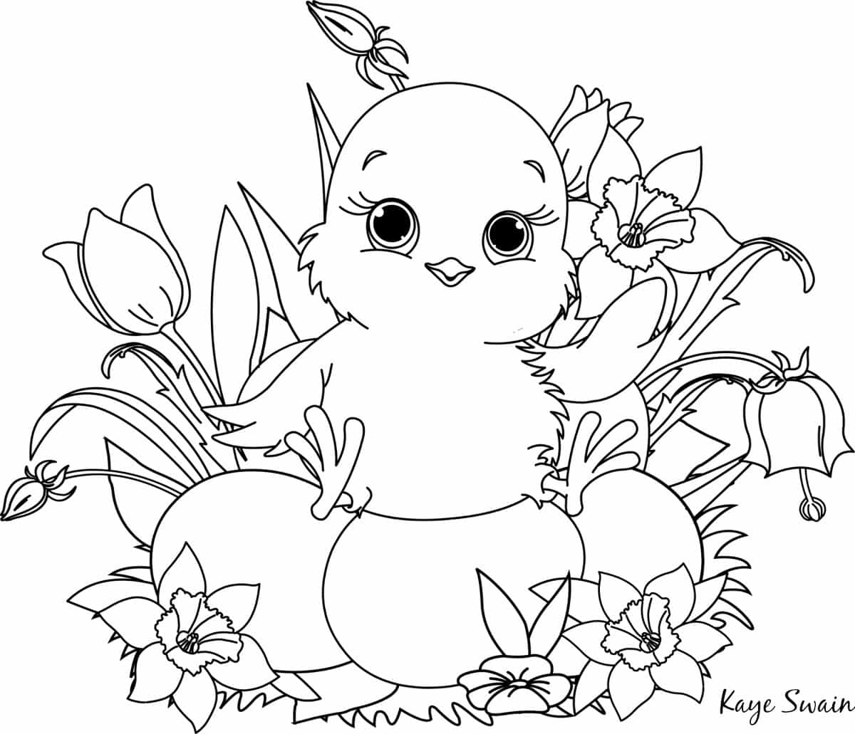 newborn sitting on easter eggs coloring page roseville