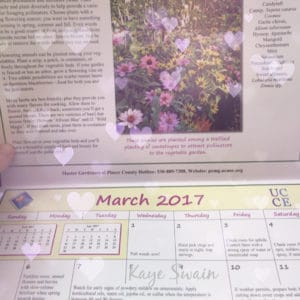 Roseville Real Estate Agent Kaye Swain loves Placer County Master Gardener Garden Calendar