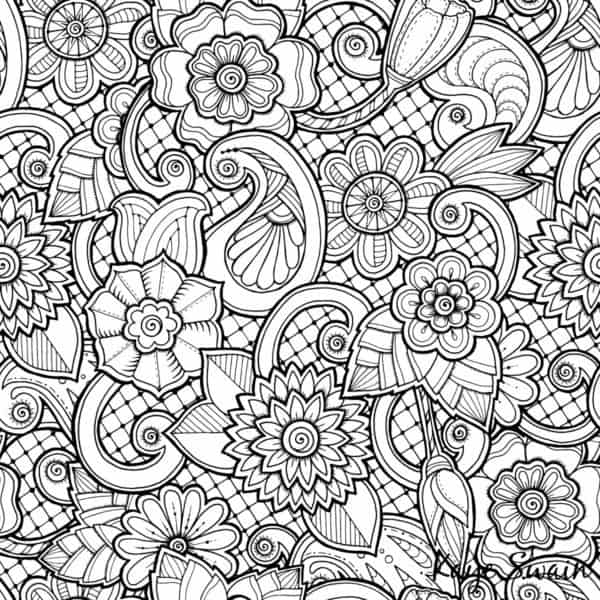 Roseville Real Estate Agent Kaye Swain sharing spring coloring page flowers.jpg