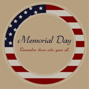 Memorial day greetings Kaye Swain