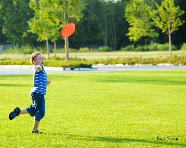 Kaye Swain Roseville REALTOR sharing Movies in the Park frisbee idea