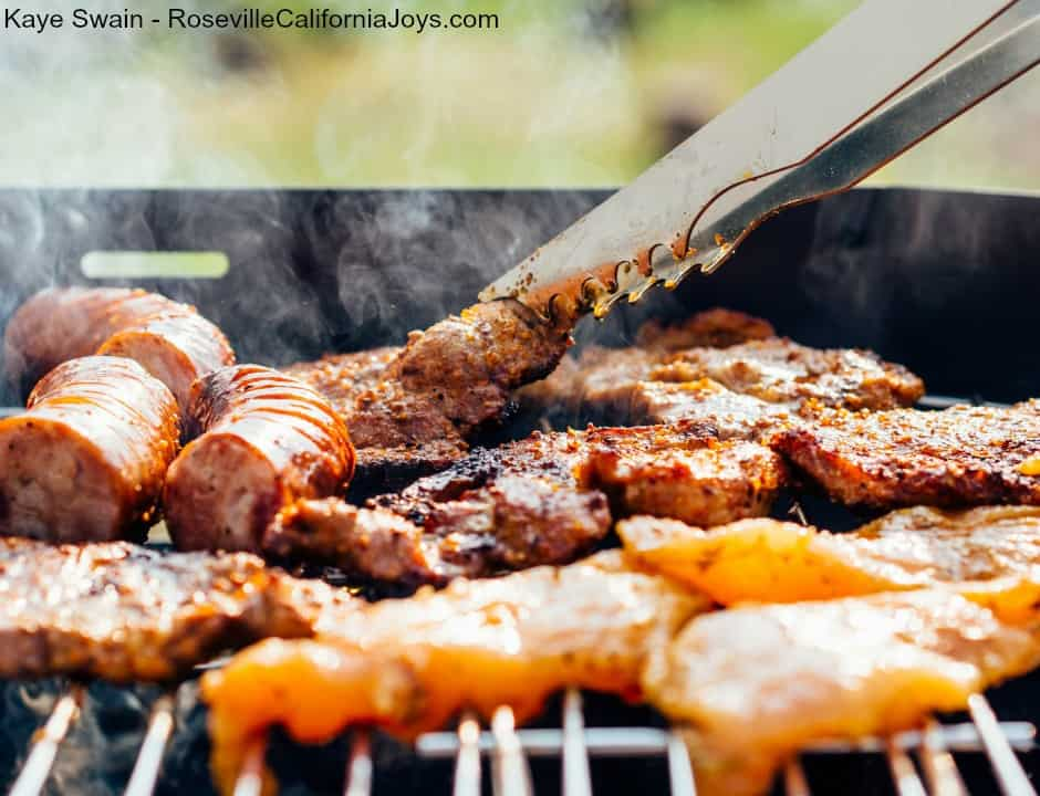 Kaye Swain Roseville CA real estate agent sharing BBQ tips