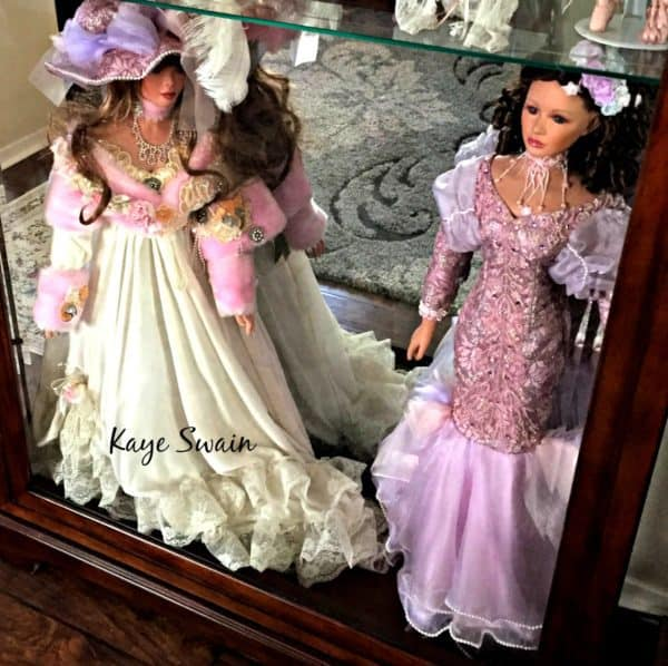 Kaye Swain Roseville REALTOR 916 768 0127 sharing lovely dolls Sun City Roseville CA a