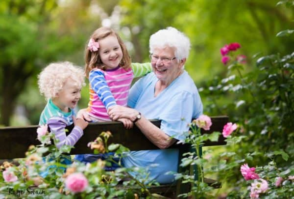 Roseville Real Estate Agent sharing senior grandparent grandkids including cute toddlers.