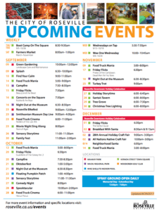 Fall events activities fun things do Roseville CA
