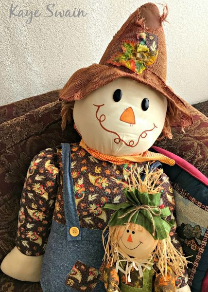 Grandkids and I love scarecrow fun for harvest halloween things do Roseville CA