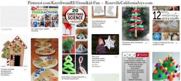 Kaye Swain Roseville California Joys sharing Christmas activities for grandparents and granchildren