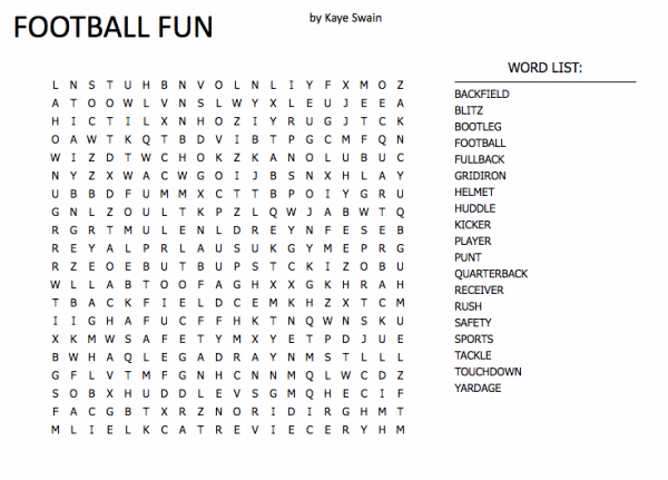 football super bowl word search puzzles for elderly to young and in between