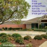 9 hole golf Sierra Pines Sun City Roseville CA