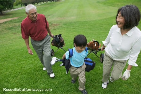 Fun with grandkids at 9 hole golf courses Like Sierra Pines in Sun City Roseville